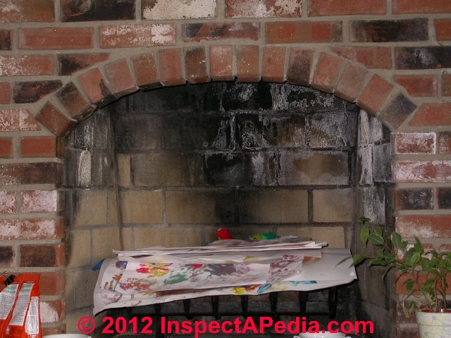 Chimney Caused Stains On Building Interior Surfaces