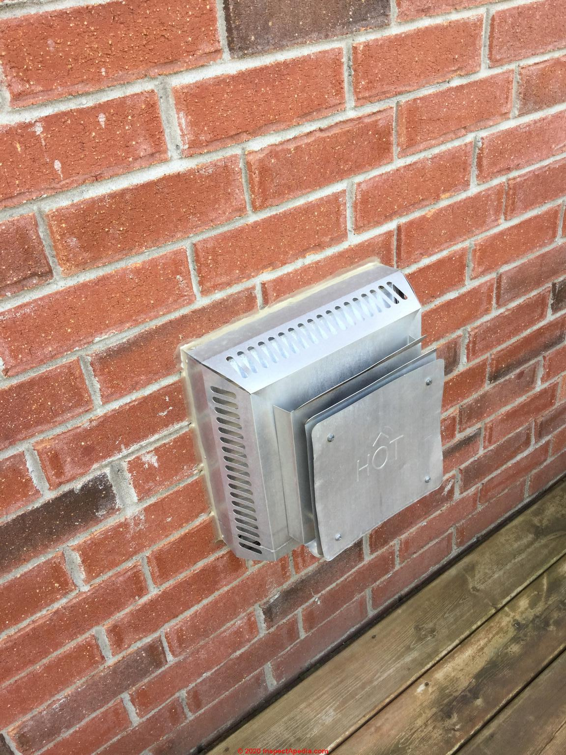 Gas Fireplace Direct Vent Termination Cap Clearance Distances