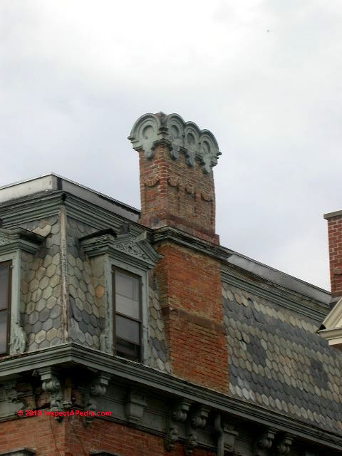 Architectural Chimney Tops : Picture dictionary of architecture building types