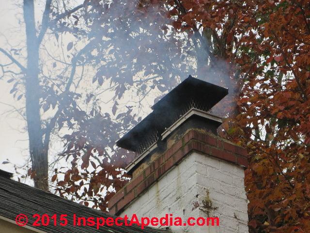 smoke in room above Swept Away Chimney Sweep