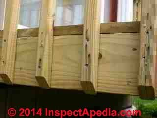 Deck balusters eliminate need for guardrail posts (C) Daniel Friedman