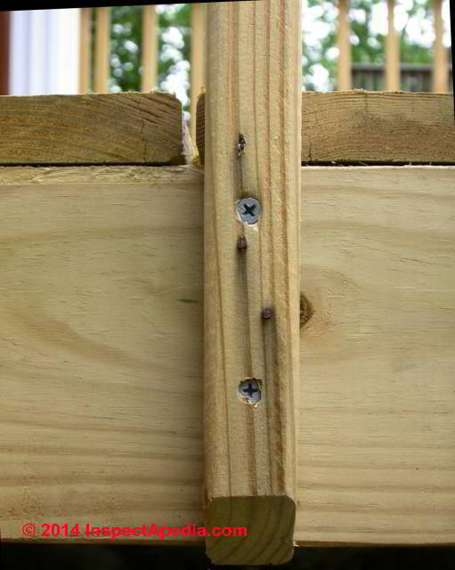 Deck or Porch or Stair Railing Post Connections How to