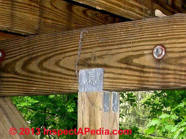 Deck Beam Or Girder Construction Installation Connections