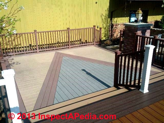 Composite or synthetic deck installation for Synthetic decking