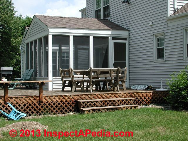 Low Deck Construction Close to Ground Level