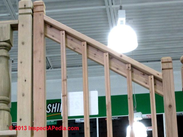 How To Build Wooden Guardrails With Balusters Screwed To The Sides Of Top U0026  Bottom Rails