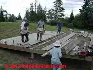 Deck - stage construction, Summerblue Arts Camp, Two Harbors MN (C) Daniel Friedman