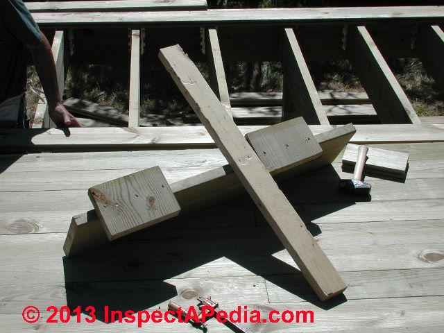 Deck Board Installation Tool ~ Deck flooring installation tips for twisted boards