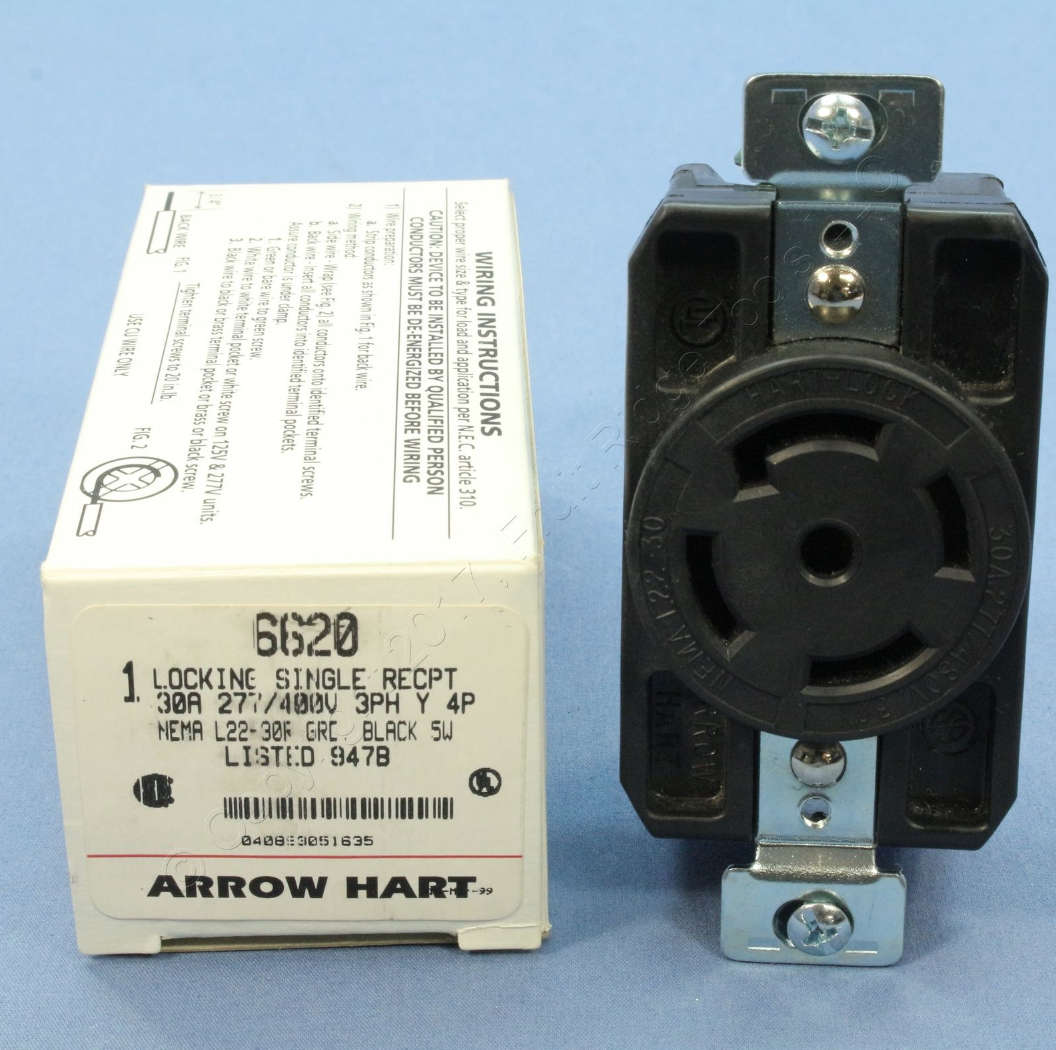 Multiwire Branch Electrical Circuits And Split Wired Receptacles Wiring Receptacle In Series Arrow Hart 30 A Locking At
