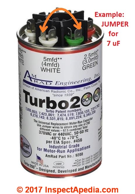 AmRad Turbo 200 Motor Capcitor Markings 022 IAPcs electric motor starting & run capacitor types, installation guide turbo 200 capacitor wiring diagram at aneh.co