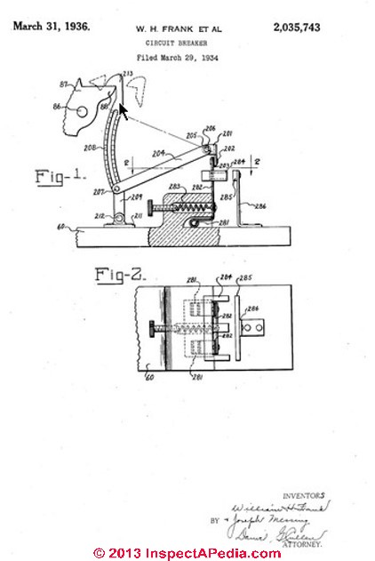 pushmatic bulldog \u0026 ite pushmatic circuit breakers \u0026 electrical Grinder Wiring Diagram bulldog pushmatic circuit breaker 1936 patent schematic uspo patent infringement 1953 case of westinghouse v bulldog electric products co giving us an