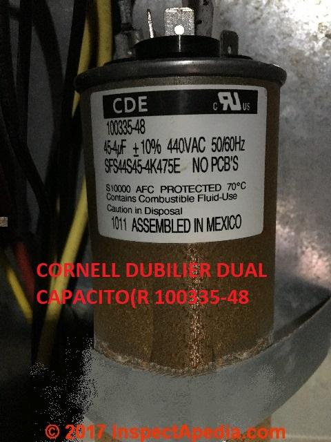 Electric Motor Starting & Run Capacitor Types, Installation