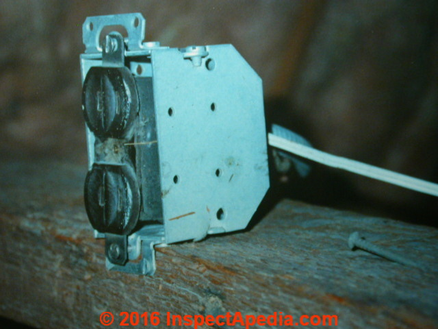 History of Old electrical wiring identification: photo guide