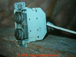 Unsafe electrical receptacle (C) Daniel Friedman