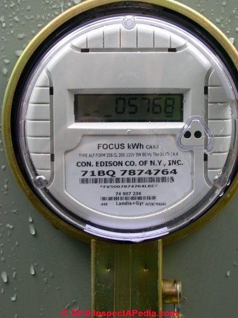 Install Utility Meters : Electric meter inspection reading problem diagnosis
