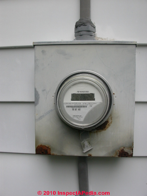 Electric Meter On House : Electric meter inspection reading problem diagnosis