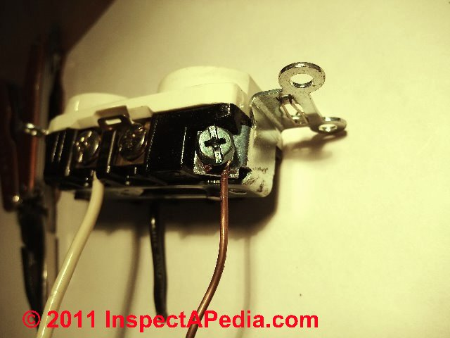 Electrical outlet wire connections - receptacle or wall plug ... on