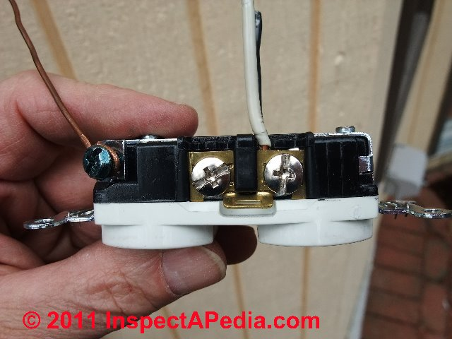 Enjoyable Electrical Outlet Wire Connections Receptacle Or Wall Plug Wire Wiring 101 Capemaxxcnl