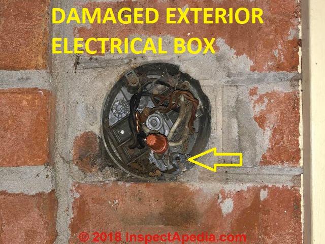 Damaged exterior electrical box repair fix outdoor - Sealing exterior electrical boxes ...