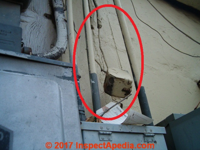 Electrical conduit inspection, damage, defects, improper ... on