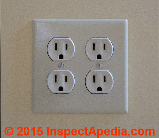 Duplex Electrical Receptacle Wire Connections - wiring details InspectAPedia.com