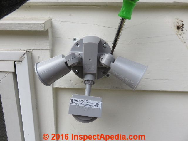 security or motion sensing light installation repair screw to loosen to change the flood light sweep angle c daniel friedman