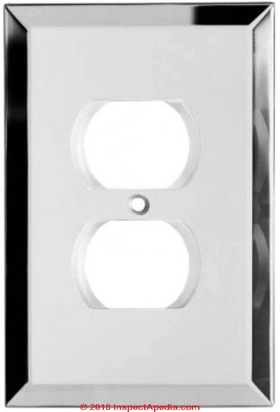 Gl Mirror Electrical Wall Outlet Cover Plate C Inspectapedia