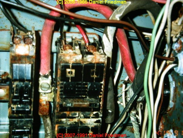 rust and corrosion in electrical panels a study and report on water rh inspectapedia com
