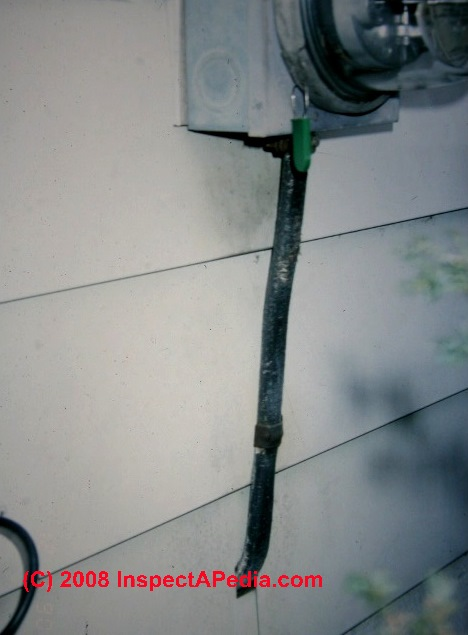 How to inspect the electric meter service ground - Sealing exterior electrical boxes ...
