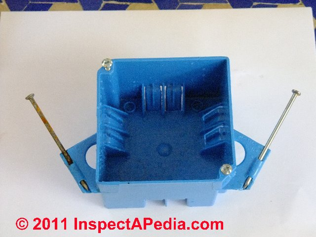 electrical box types sizes for receptacles when wiring receptacles rh inspectapedia com Home Electrical Wiring Diagrams Home Electrical Wiring Circuits