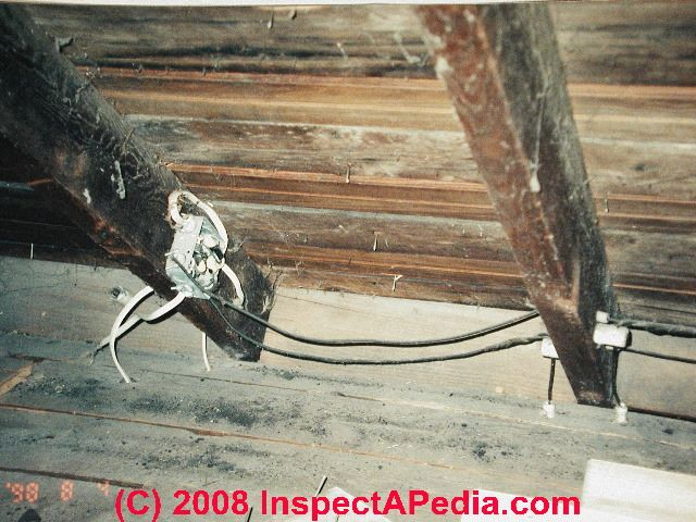 old house wiring inspection repair electrical grounding knob rh inspectapedia com Old House Electrical Wiring Types Old House Electrical Wiring Types