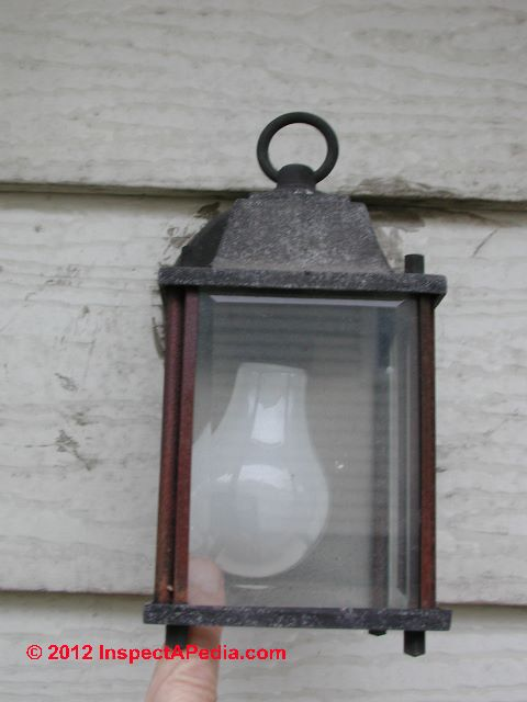 Unsafe Exterior Light Fixture Inspection & Defects