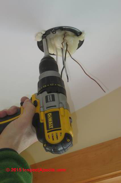 Using A Power Driver Or Electric Drill To Install Swing Clamp Old Work Electrical Bo