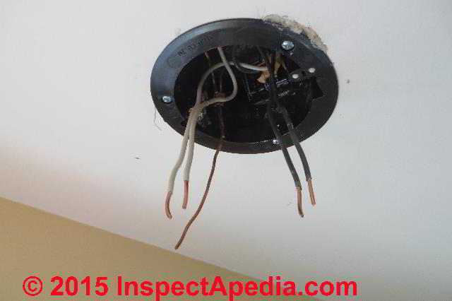 ceiling light fixture installation \u0026 wiring