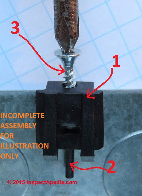 metal box mender demonstration without box cover or electrical device in place do not do