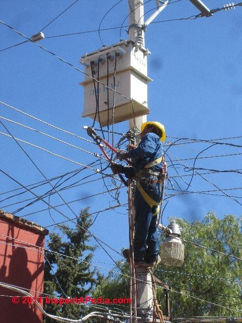 Changing Overhead Electrical Wires San Miguel De Allende C Daniel Friedman