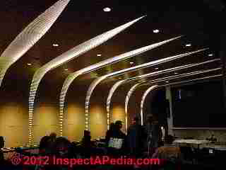 Recessed ceiling lighting, Bard Center, New York City (C) D Friedman