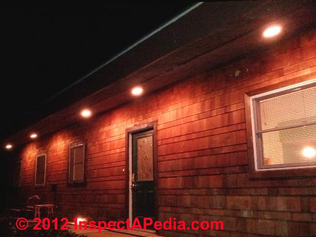 exterior lighting installation inspection troubleshooting repair rh inspectapedia com wiring outdoor recessed lights wiring outdoor recessed lights