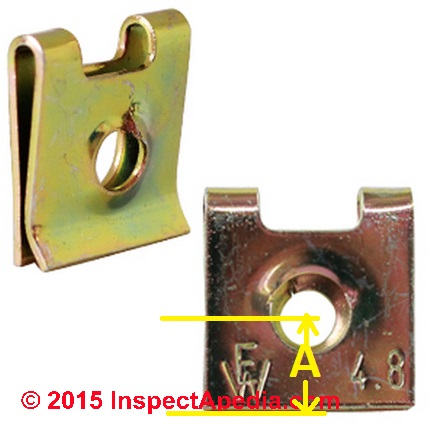 Sheet Metal Clip Or Nut Wide For Electrical Box Repairs C