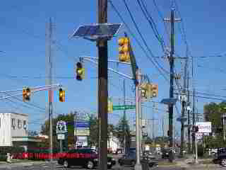 Photovoltaic panels on utility poles, Haddonfield NJ (C) Daniel Friedman