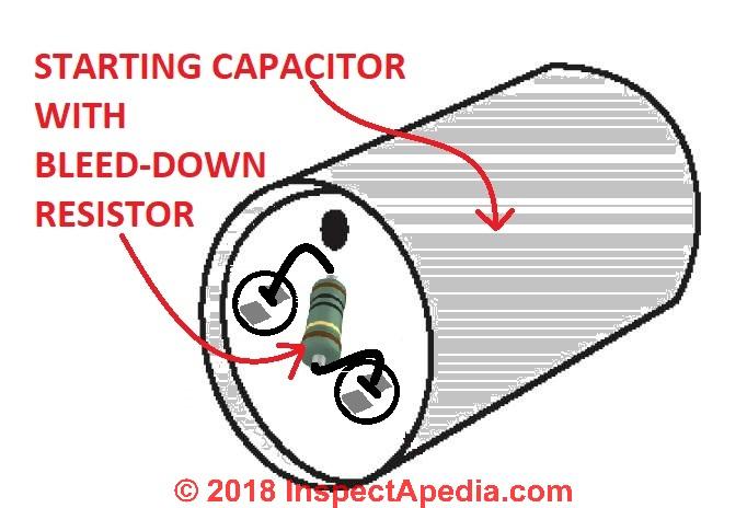 Electric Motor Start Run Capacitor Operation