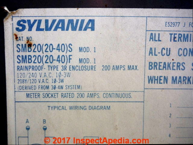 Sylvania electric panel Label 383 s sylvania electrical panel & breaker identification these electrical