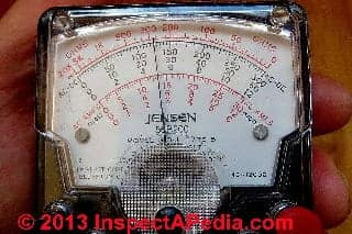 Jensen 310 VOM analog meter scale readout measauring voltage (C) DanieL Friedman