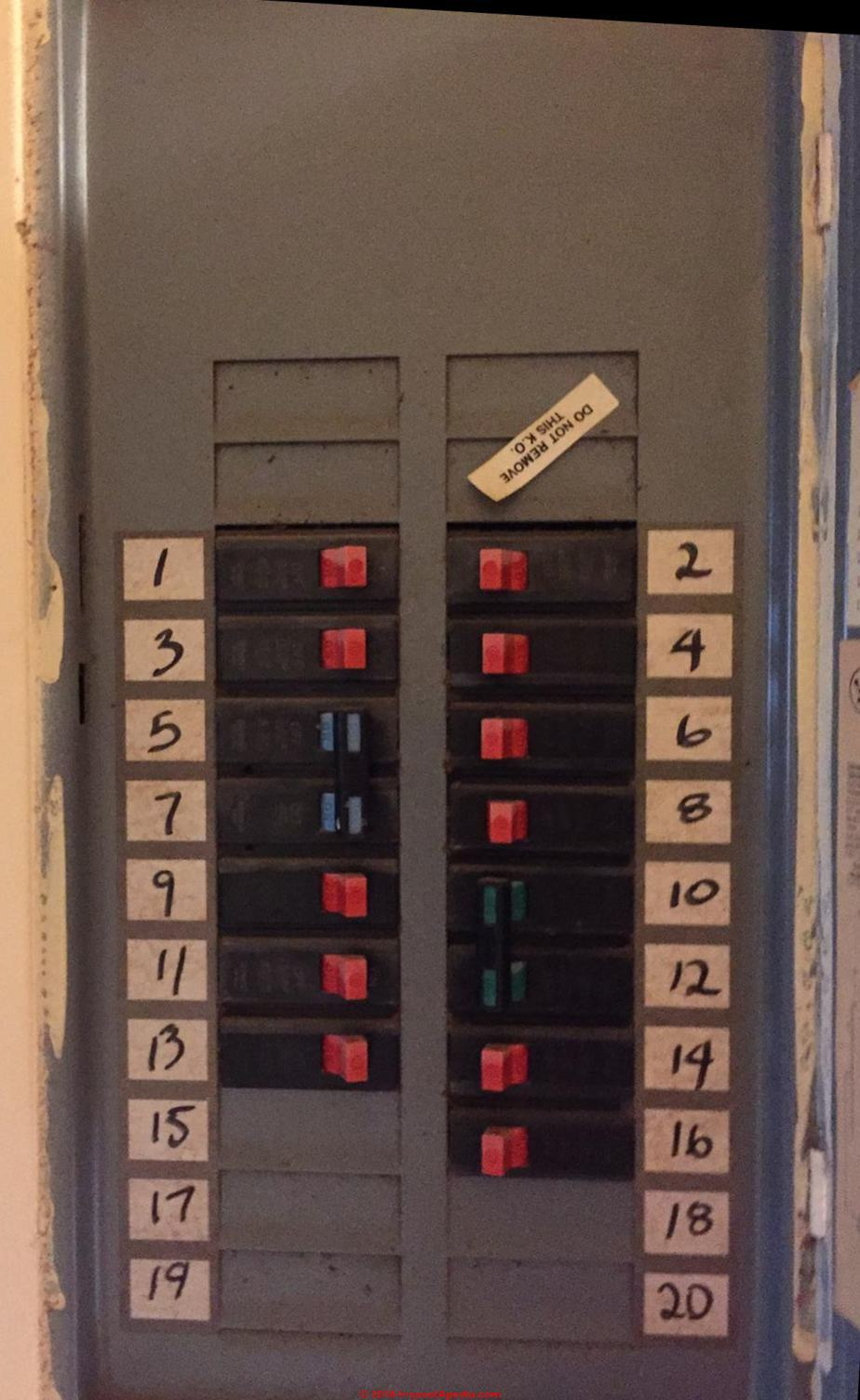 Westinghouse electrical panel identification (C) InspectApedia.com ...
