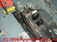 Photo of a Zinsco electrical panel failure