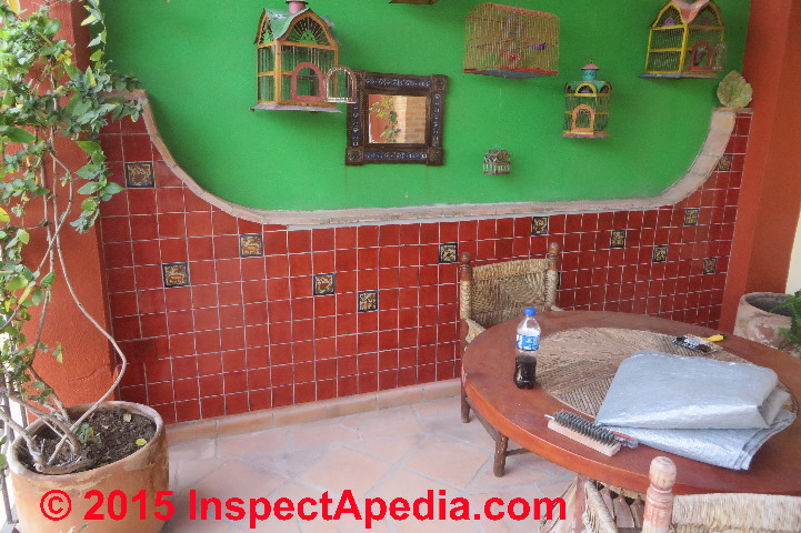 Ceramic Tile Installed On A Masonry Wall D Friedman At Inspectapedia How To Install Concrete