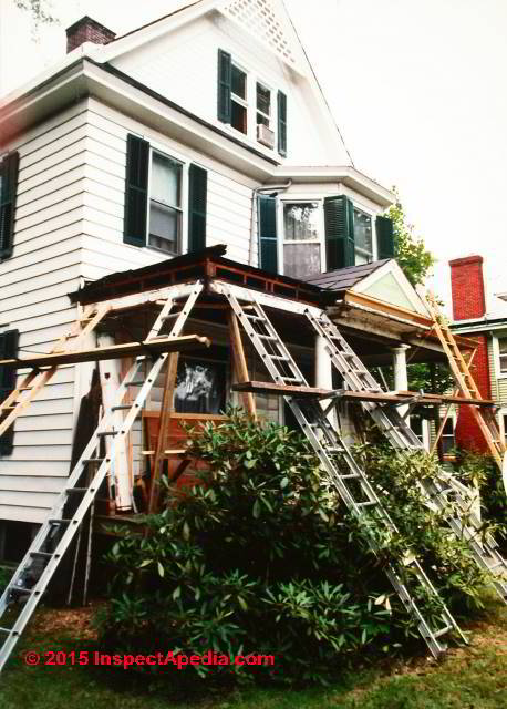 How To Support A Porch Roof During Column Repair Or Replacement C Daniel Friedman