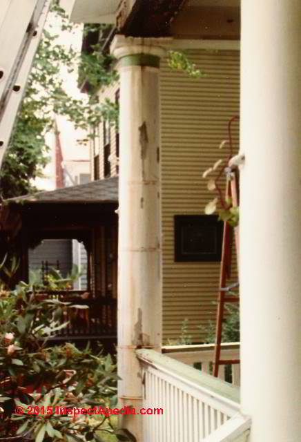 Porch Column Restore Or Replace: Assessment Of A Porch Repair Durability  Over 30 Years Part 43