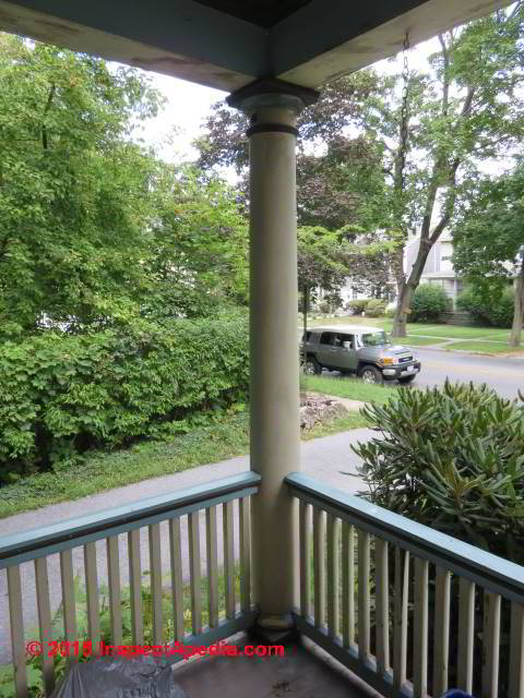 Hollow Wood Porch Column Replacement Brought From Brooklyn In 1985 C Daniel Friedman