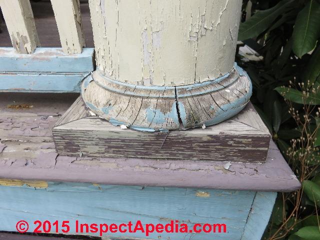 Exterior Plinth Blocks : Porch column repair or replacement